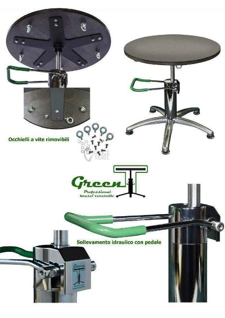 green t turntable for bonsai workstation