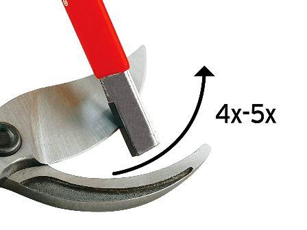 sharpening a branch cutter